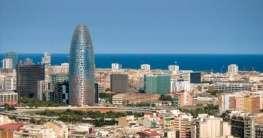 Stadtpanorama von Barcelona